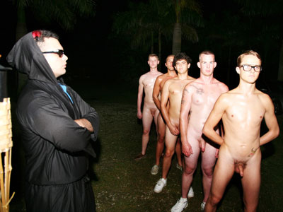 naked gay initiation